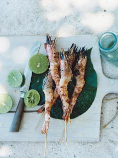柠檬草烤大虾