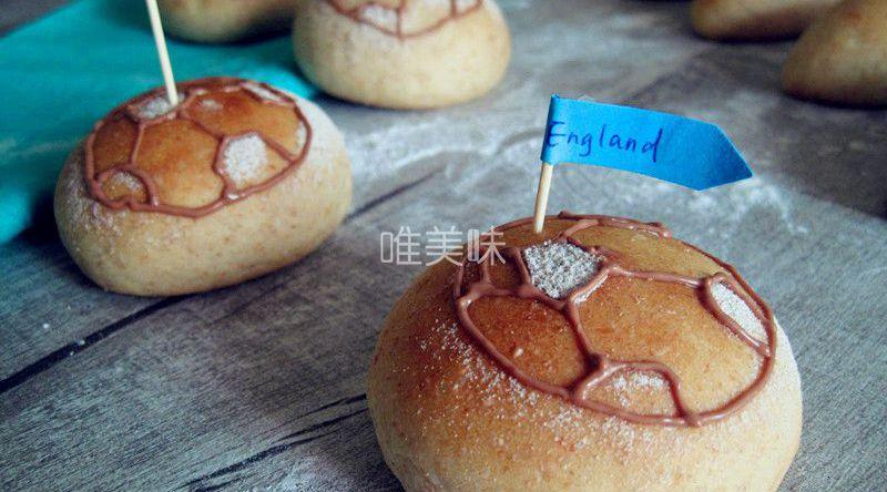 美味可爱的世界杯汉堡包