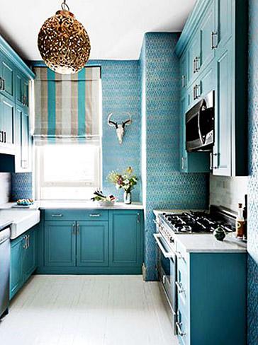善用好颜色 厨房巧增彩