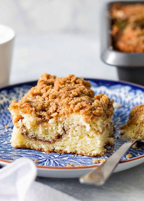 配咖灰一流的【肉桂苹果咖啡蛋糕 Apple-Cinnamon Coffeecake】